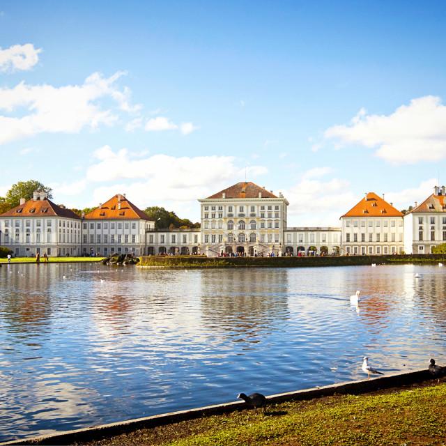 """Nymphenburg Castle near Munich"" stock image"