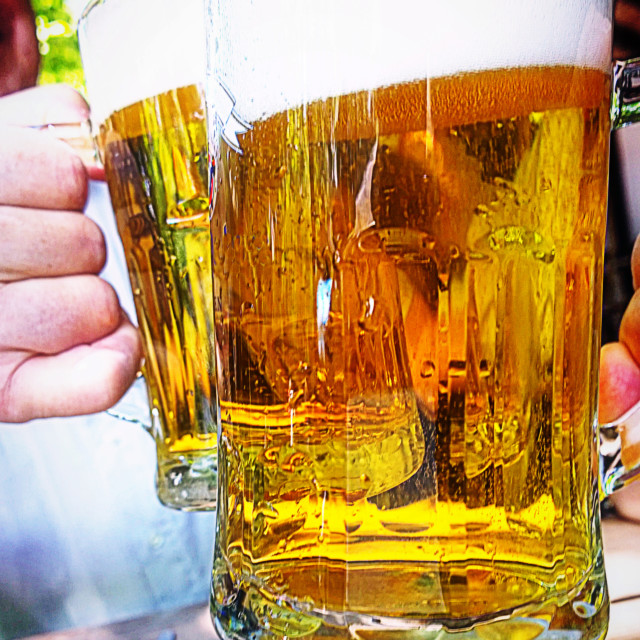 """""""Traditional prosit with beer"""" stock image"""