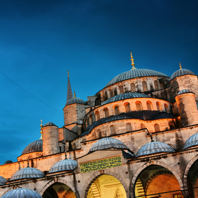 """Sultan Ahmed Mosque or Blue Mosque in Istanbul, Turkey"" stock image"