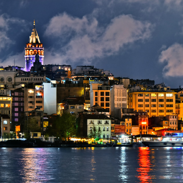 """Galata Tower in the Galata quarter of Istanbul, Turkey"" stock image"
