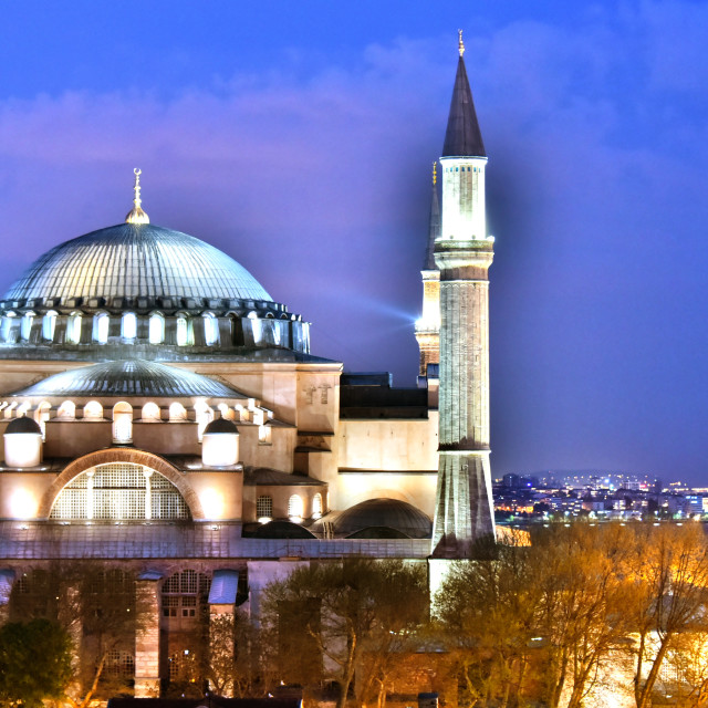 """Hagia Sophia museum (Ayasofya Muzesi) in Istanbul, Turkey"" stock image"