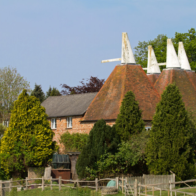 """Oast House conversion"" stock image"