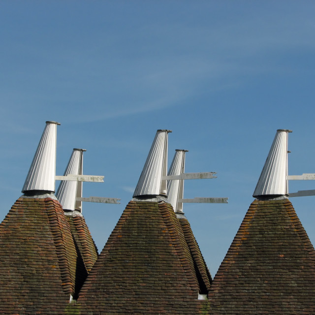 """Oast House Cowls"" stock image"