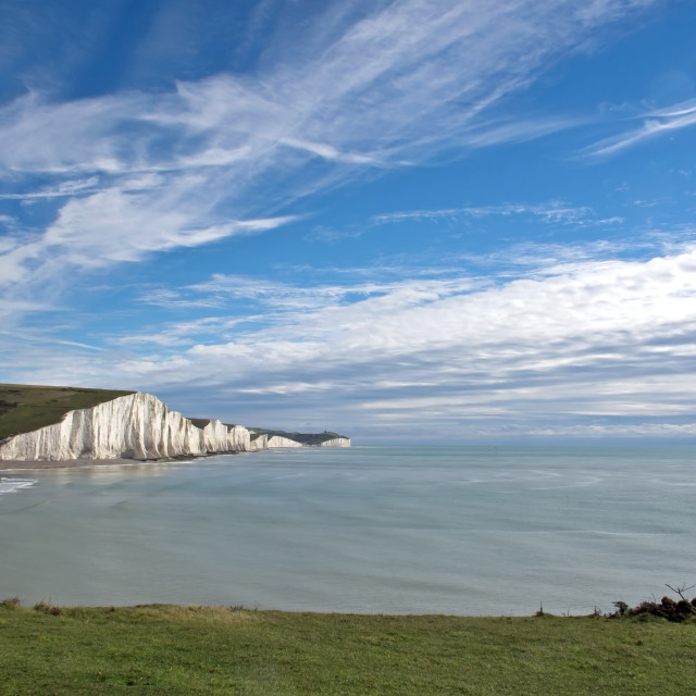 """Seven Sisters from Seaford Head"" stock image"