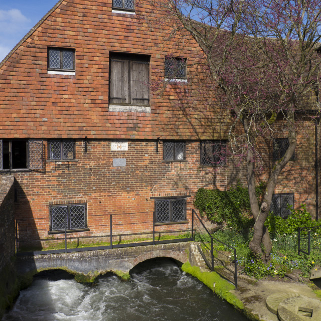 """Winchester City Mill"" stock image"