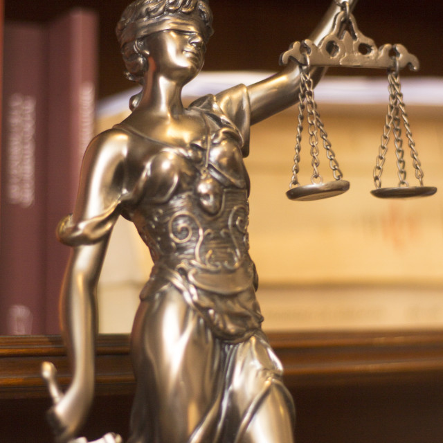 """""""Law office legal statue Themis"""" stock image"""
