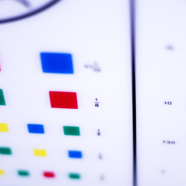 """Optician eye test chart"" stock image"