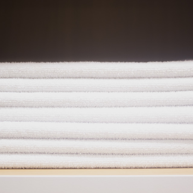 """""""Towels in health club spa"""" stock image"""