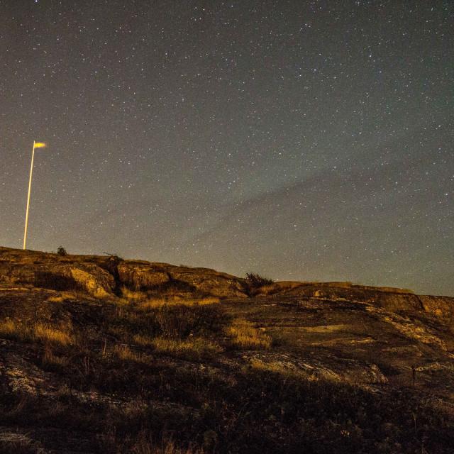 """Starry night in the Gothenburg Archipelago | Sweden"" stock image"