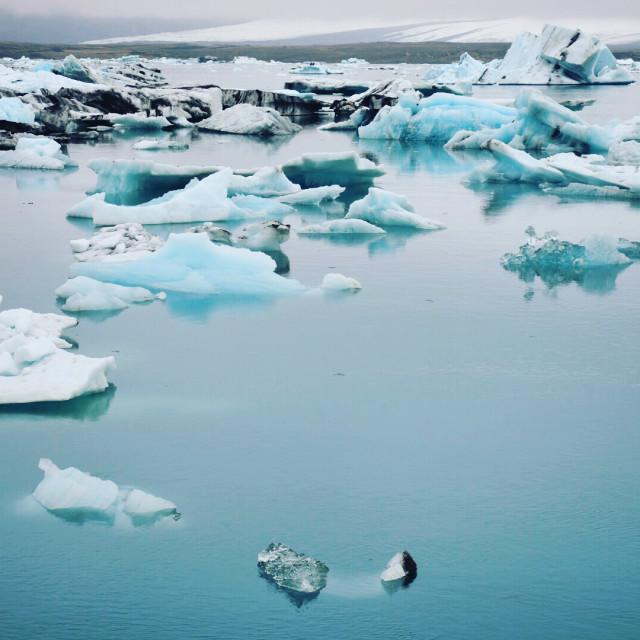 """""""Jokulsarlon Glacier Lagoon"""" stock image"""