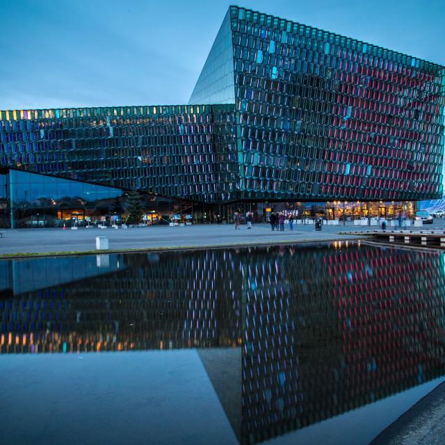 """""""Harpa Concert Hall, Reykjavik, Iceland"""" stock image"""