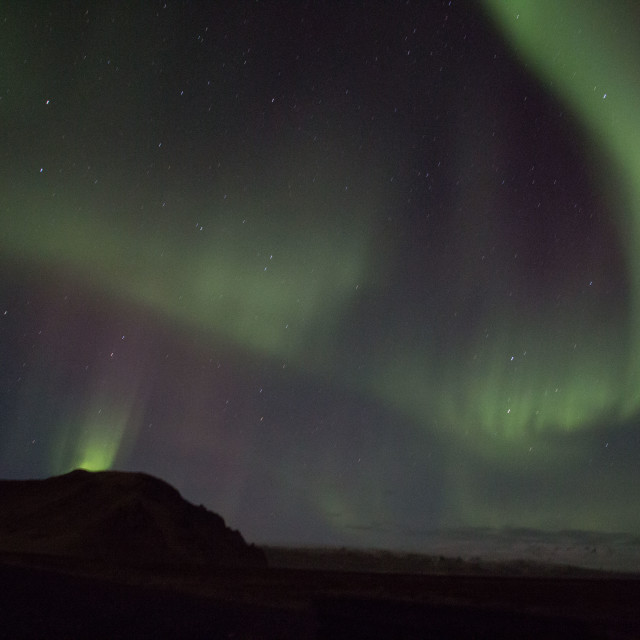 """Northern Lights, Iceland"" stock image"