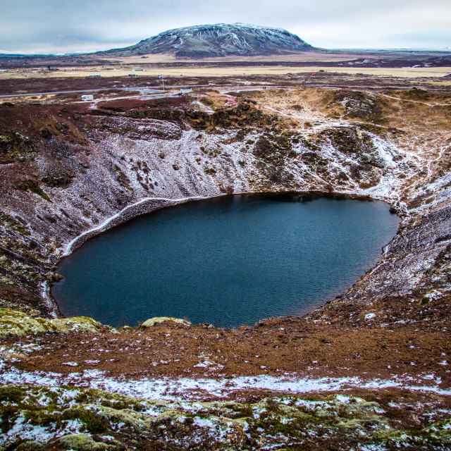 """Kerid Crater Lake, Iceland"" stock image"