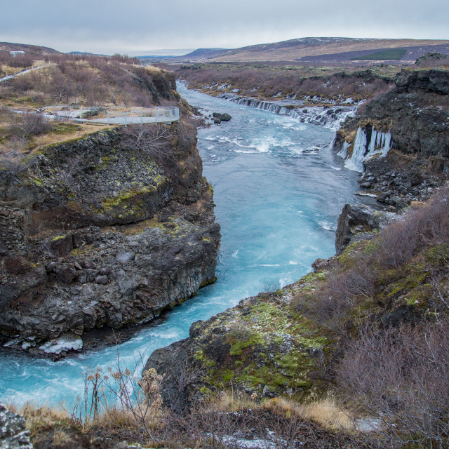 """Gullfoss Waterfall in Gullfoss, Iceland"" stock image"