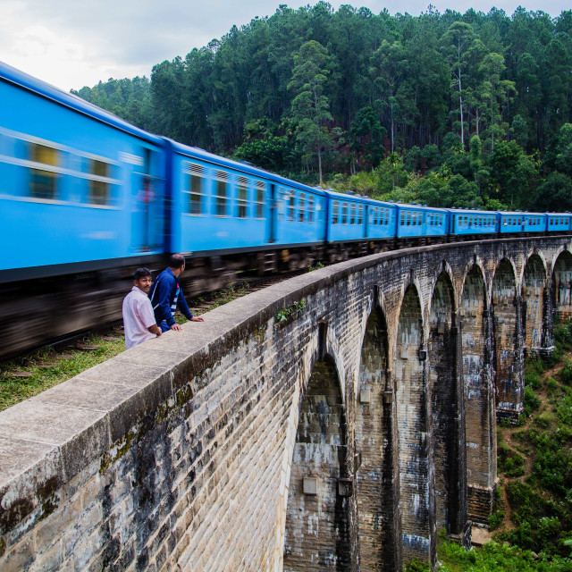 """The Ella Train over Demodara Nine Arch Bridge, Sri Lanka"" stock image"