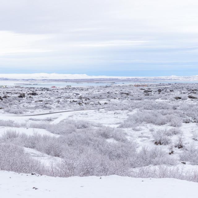 """Winter landscape Iceland Panorama"" stock image"
