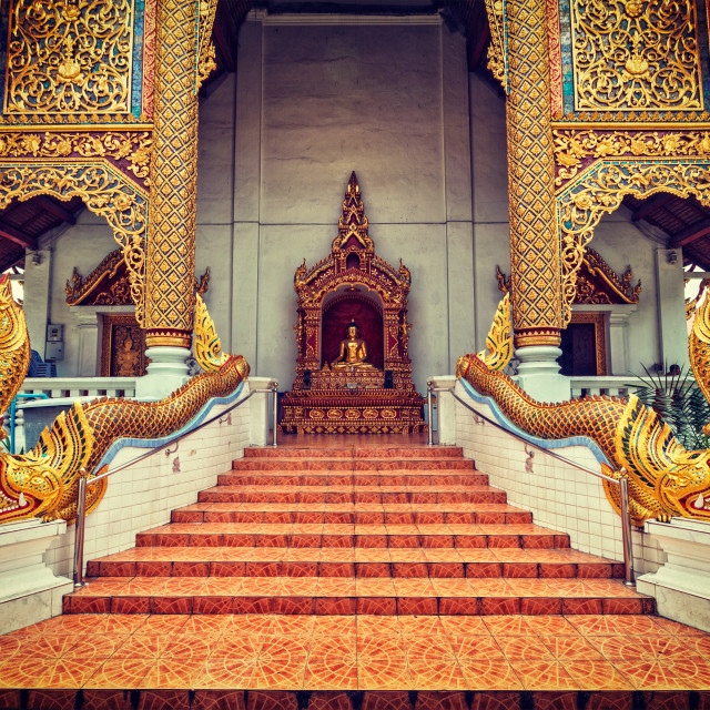 """Wat Phra Singh, Chiang Mai, Thailand"" stock image"