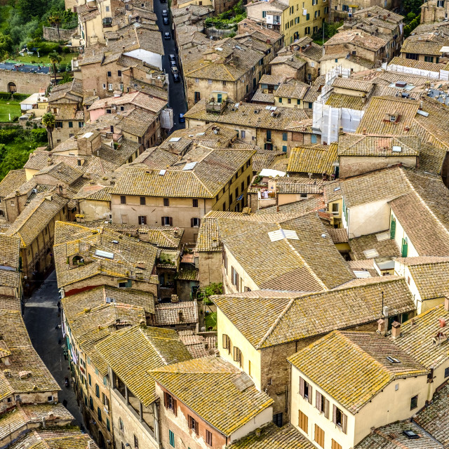 """Panoramic of Siena Tuscany Italy"" stock image"