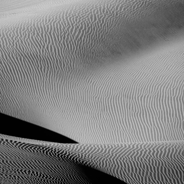 """Black and White Desert, Huacachina, Peru"" stock image"