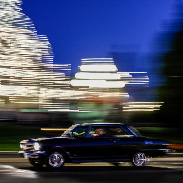 """Classic car in Victoria, Vancouver Island, Canada"" stock image"