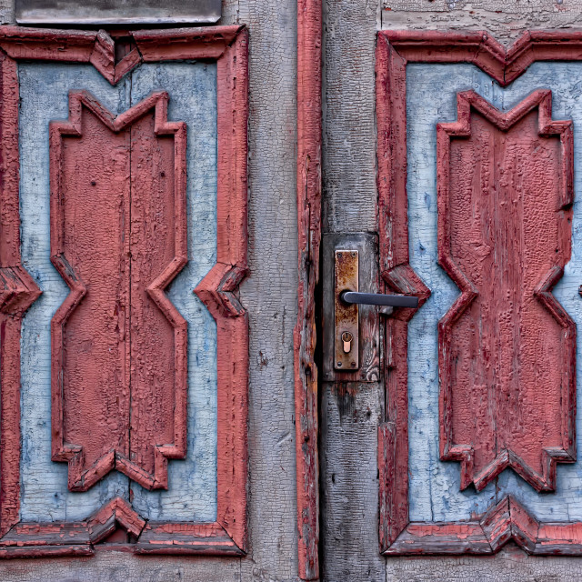 """Patterns Of An Old Estonian Door"" stock image"