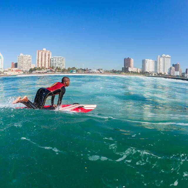 """Surfing Lifeguards Water Skis Durban"" stock image"