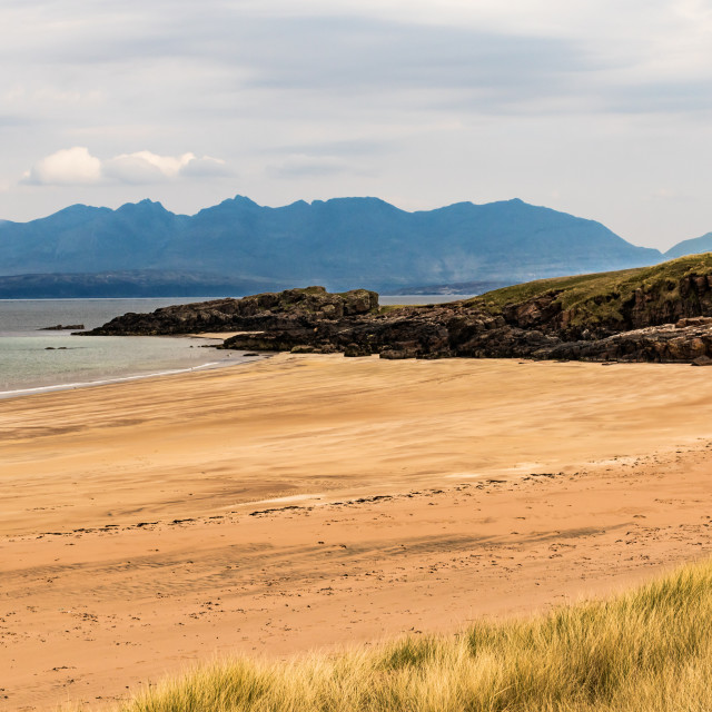 """Isle of Rum and Skye"" stock image"