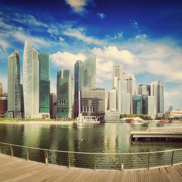 """""""Singapore skyline panorama"""" stock image"""