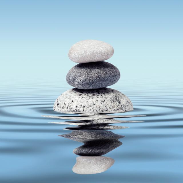 """Zen stones balance concept"" stock image"