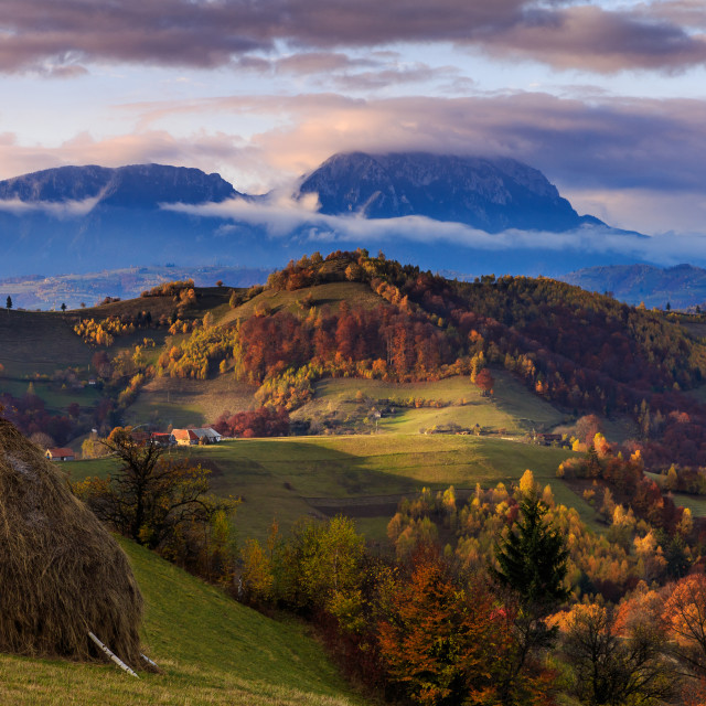 """Autumn on Transylvanian hills"" stock image"