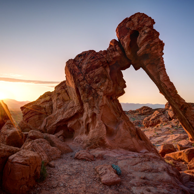 """Sunrise Over Elephant Rock"" stock image"