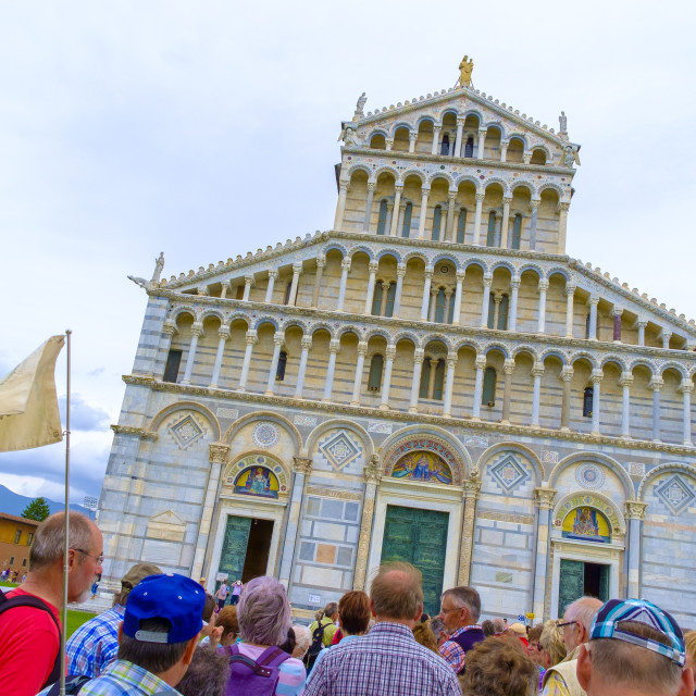 """Pisa Cathedral Dome devoted to Santa Maria Assunta"" stock image"