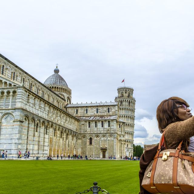 """Pisa Cathedral Dome devoted to Santa Maria Assunta"" stock image"