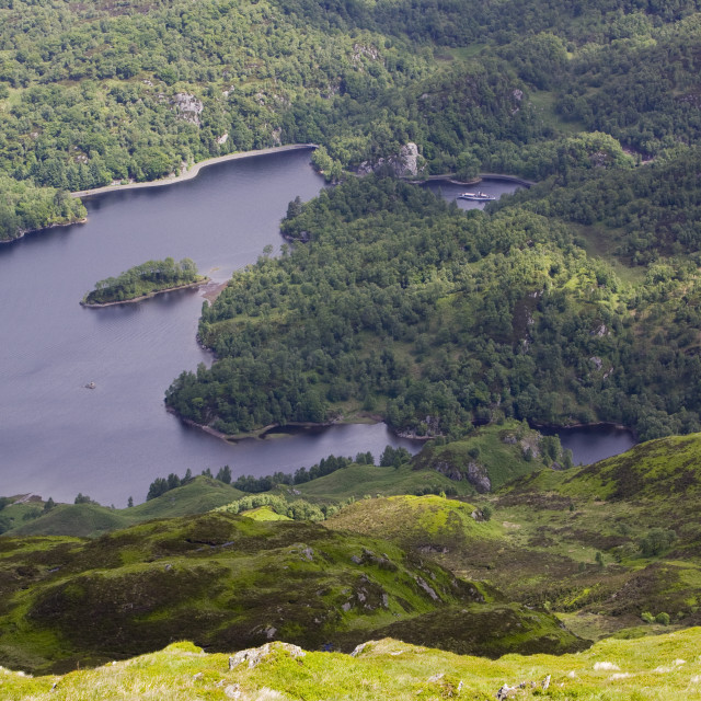 """Loch Katrine in the Trossachs Scotland"" stock image"