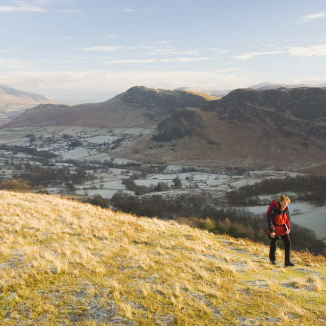 """""""The Keswick fells in the Lake District above the Newlands Valley UK"""" stock image"""