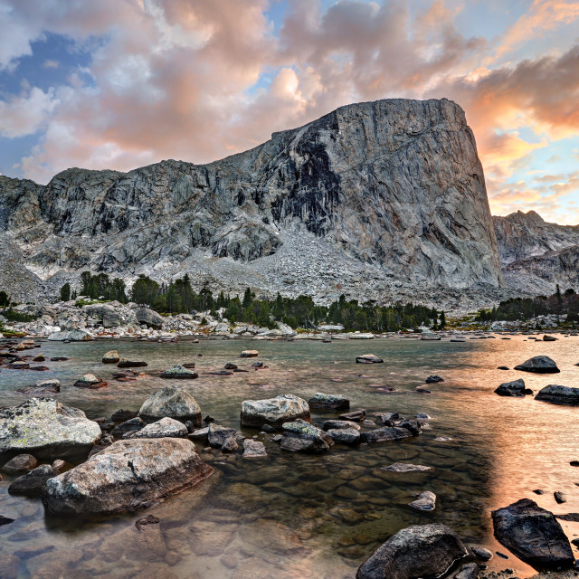 """Mount Hooker in the Wind River Range"" stock image"