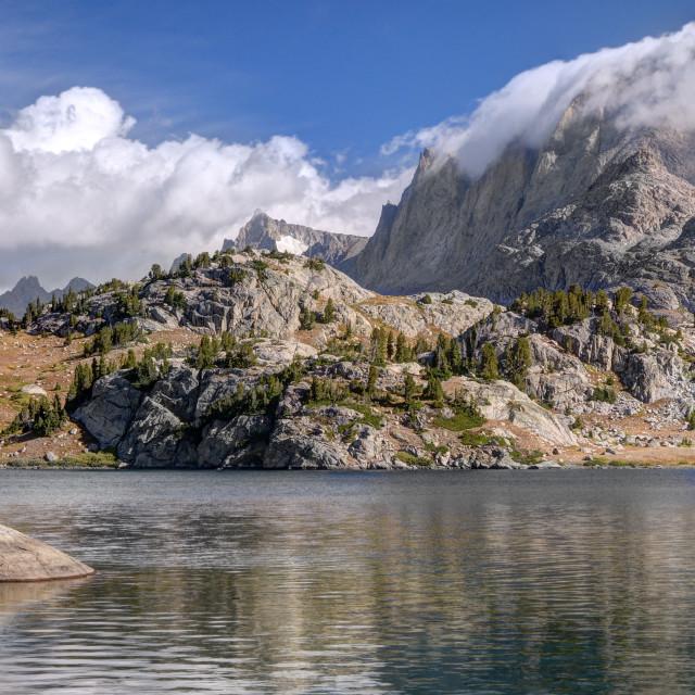 """Morning Clouds Over Fremont Peak"" stock image"