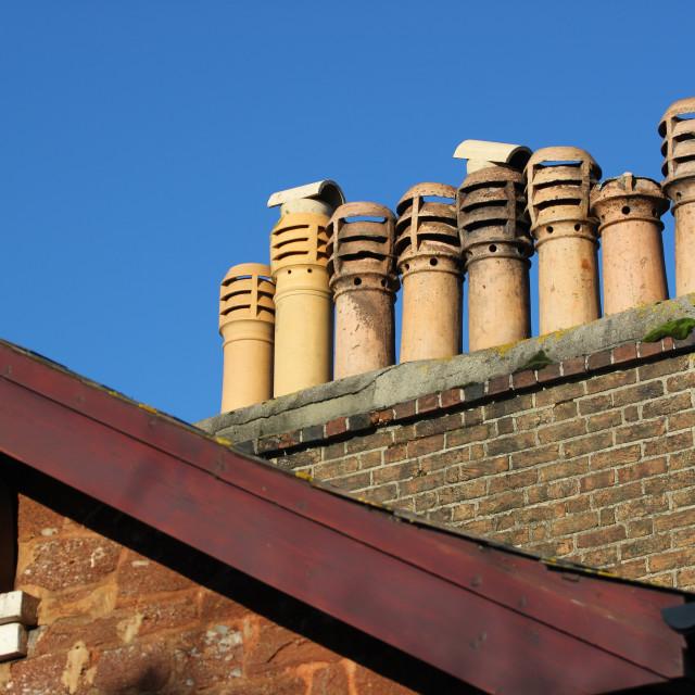 """Chimney Pots"" stock image"