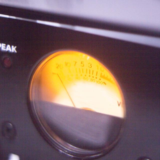"""Recording studio audio dial"" stock image"