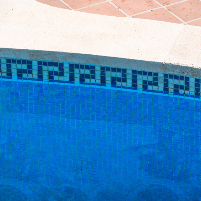 """""""Swimming pool with blue water to relax."""" stock image"""