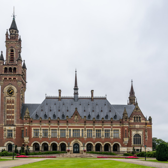 """""""The Peace Palace a cloudy day of summer"""" stock image"""