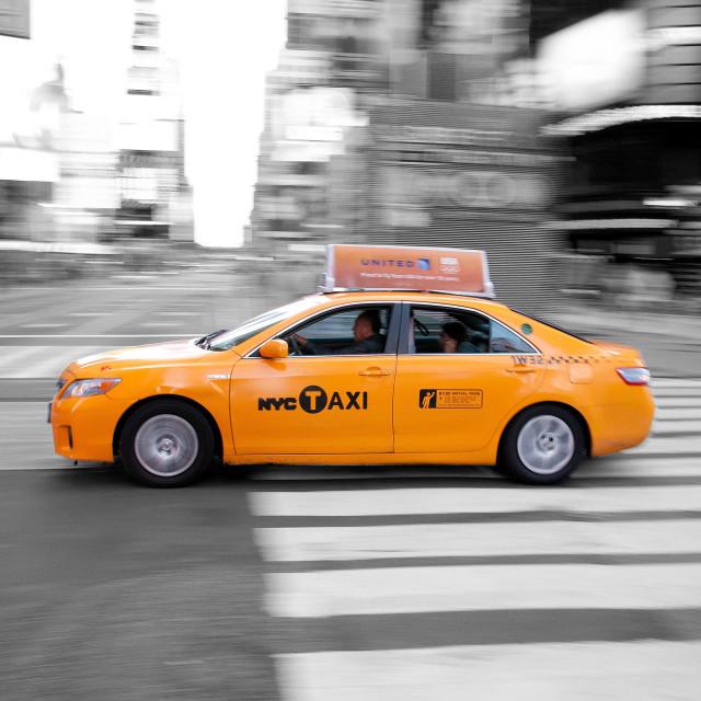 """NYC Cab"" stock image"