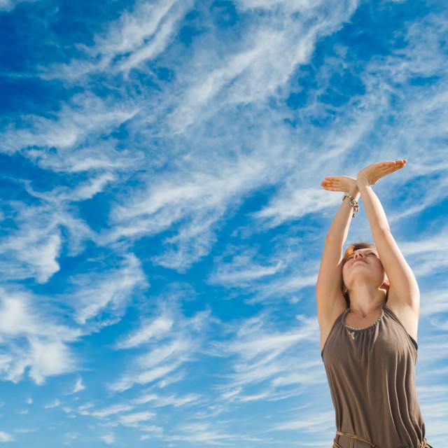 """""""Dance yoga"""" stock image"""