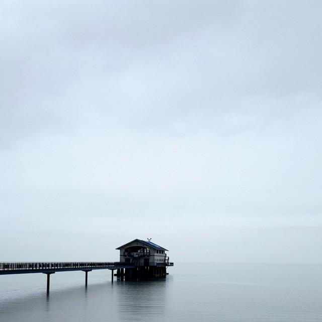 """Gloomy Boat House"" stock image"