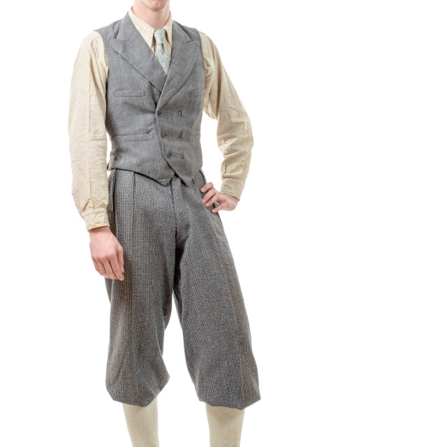 """""""young man with clothes in 20s style."""" stock image"""