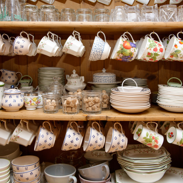 """""""cabinet with crockery"""" stock image"""