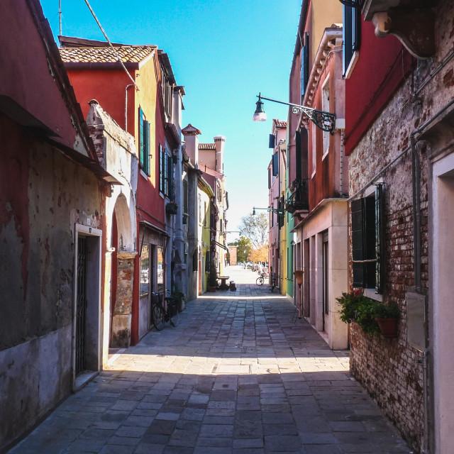 """""""Getting lost in Lido di Venezia"""" stock image"""