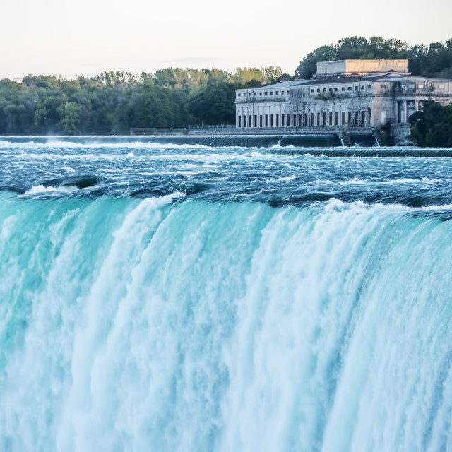 """A view of the Horseshoe Falls, Canada"" stock image"