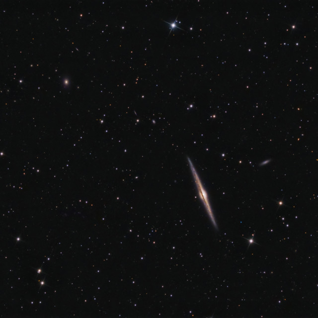 """Deep Space: Needle Galaxy (NGC 4565) in Coma Berenices"" stock image"