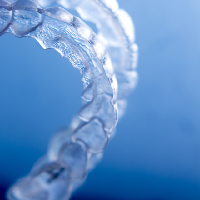 """Invisible dental brackets"" stock image"